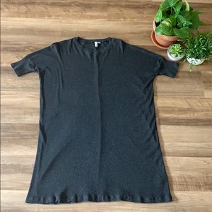 ASOS Ribbed Crew Shift Dress 3/4 Sleeve Sz 0
